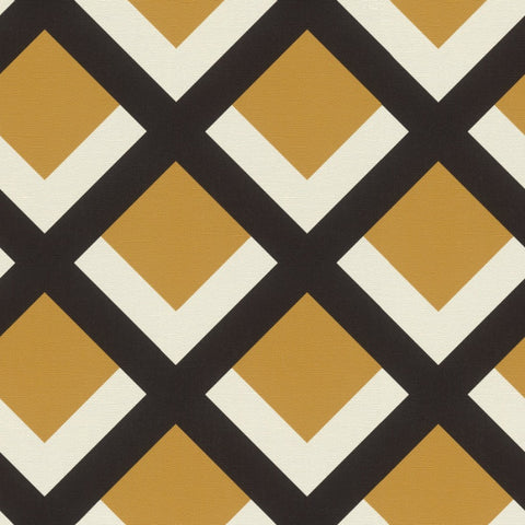 Selection Vinyl VI Yellow / Black Geometric Wallpaper