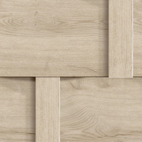 Harrow Beige Wood Panel Weave Wallpaper
