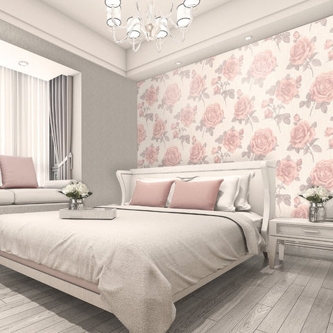 Amara Soft Pink Rose Wallpaper