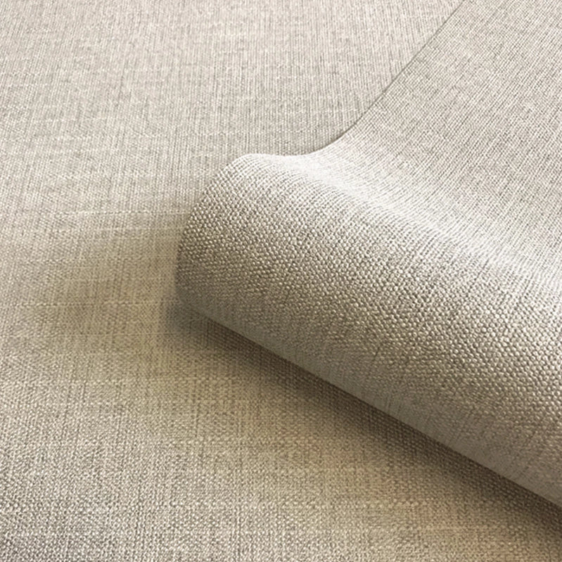 Close up of beige luxury fabric effect wallpaper