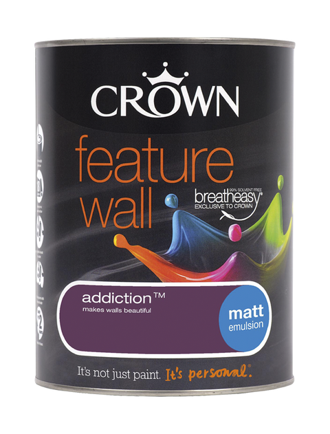1.25L Crown Feature Wall Matt Emulsion - Addiction