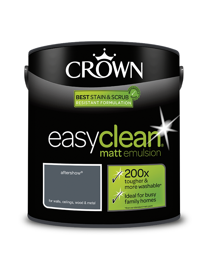 2.5L Crown Easyclean Matt Emulsion - Aftershow