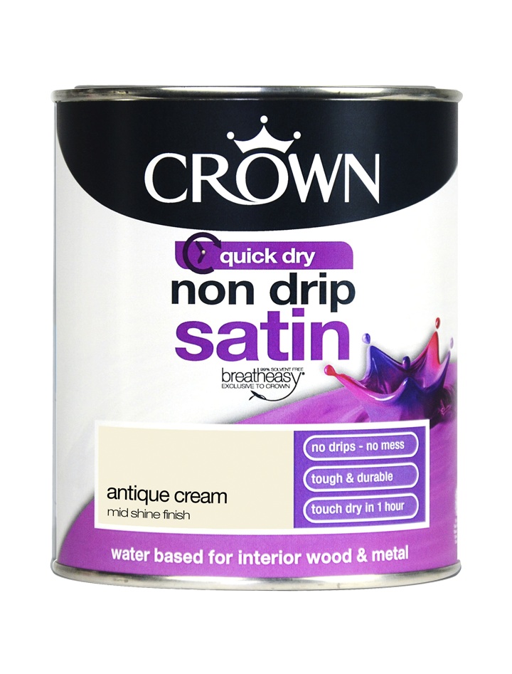 750ml Crown Non Drip Satin - Antique Cream