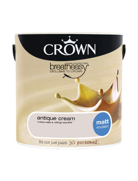 2.5L Crown Matt Emulsion - Antique Cream