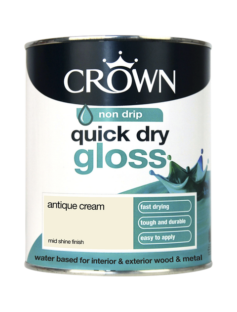 750ml Crown Quick Dry Gloss - Antique Cream