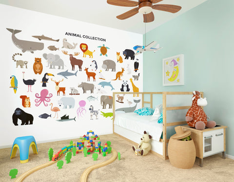 Animal Collection Mural