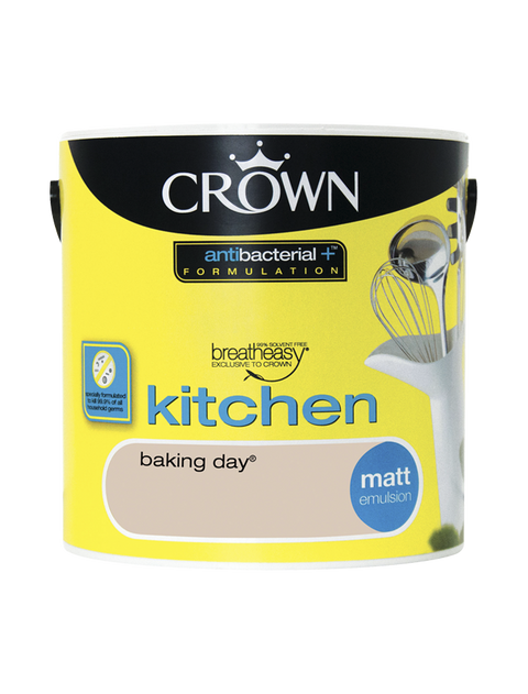 2.5L Crown Kitchen Matt Emulsion - Baking Day