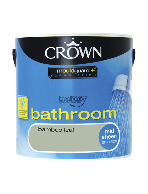 2.5L Crown Bathroom Mid Sheen Emulsion - Bamboo Leaf