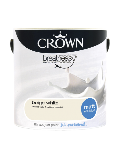 2.5L Crown Matt Emulsion - Beige White