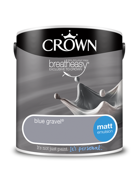 2.5L Crown Matt Emulsion - Blue Gravel