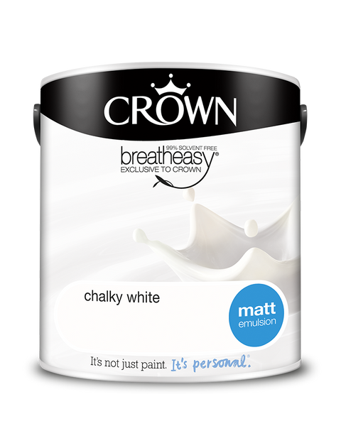 2.5L Crown Matt Emulsion - Chalky White