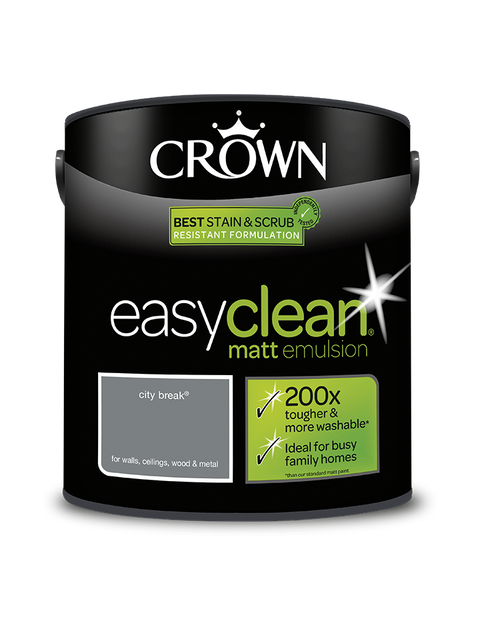 2.5L Crown Easyclean Matt Emulsion - City Break