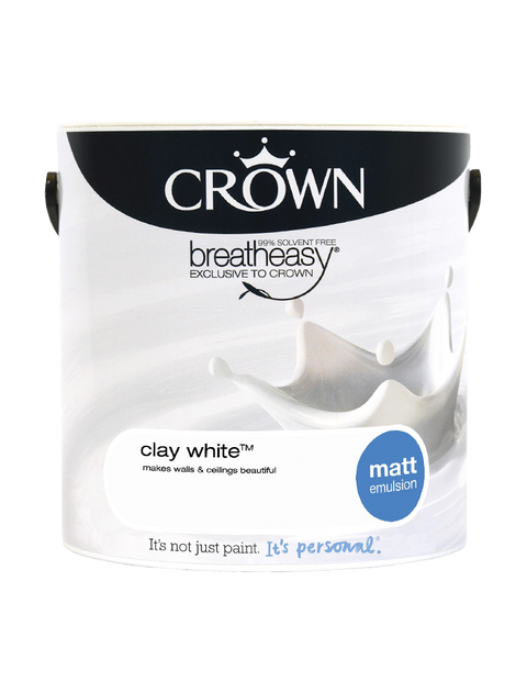 2.5L Crown Matt Emulsion - Clay White