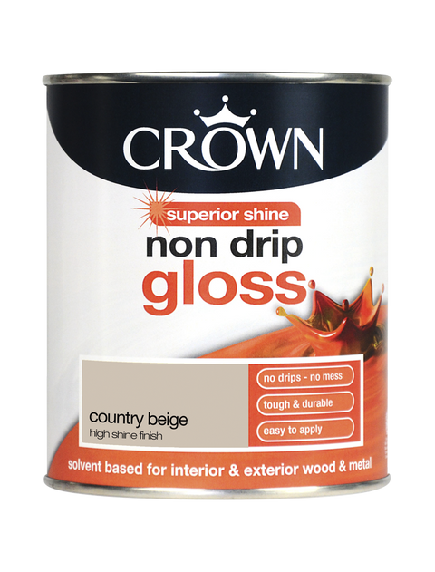 750ml Crown Non Drip Gloss - Country Beige