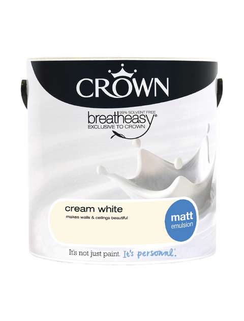 2.5L Crown Matt Emulsion - Cream White