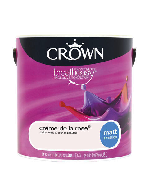 2.5L Crown Matt Emulsion - Creme de la Rose