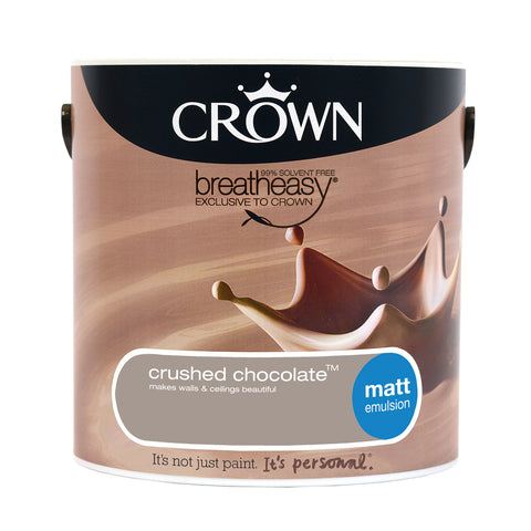 2.5L Crown Matt Emulsion - Crushed Chocolate