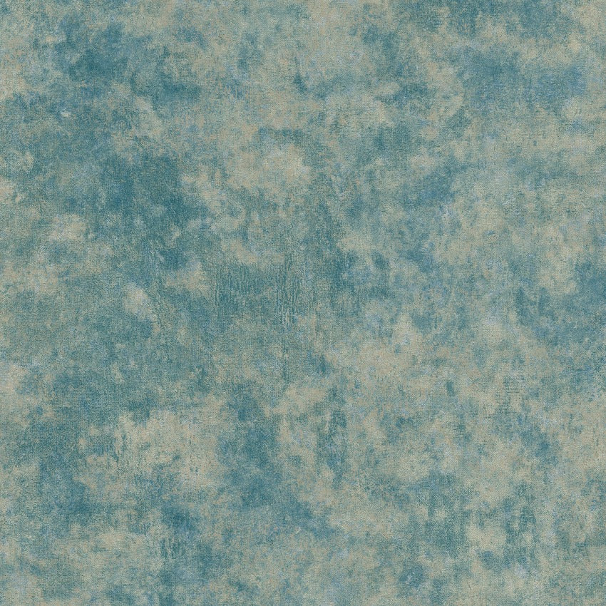 Teal crushed velvet wallpaper