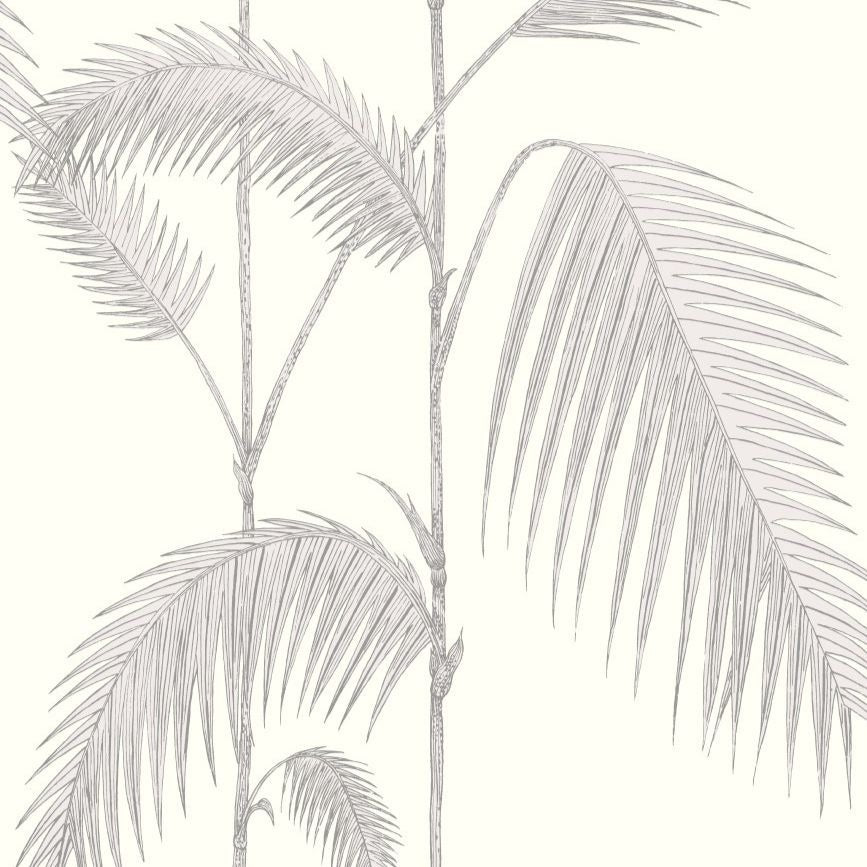 Soft grey and pearl palm leaves