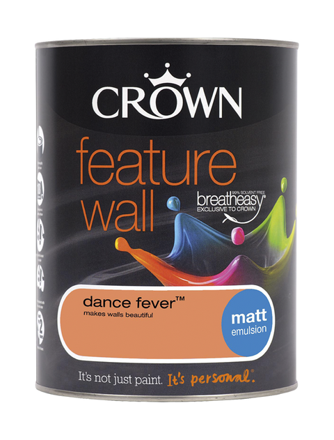1.25L Crown Feature Wall Matt Emulsion - Dance Fever