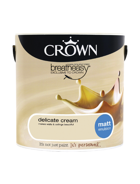 2.5L Crown Matt Emulsion - Delicate Cream