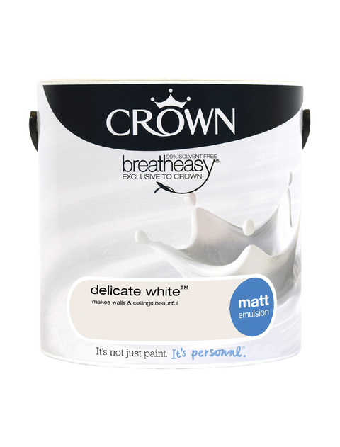 2.5L Crown Matt Emulsion - Delicate White