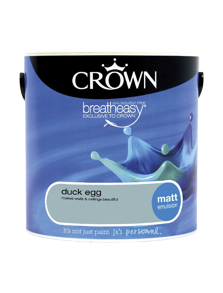 2.5L Crown Matt Emulsion - Duck Egg