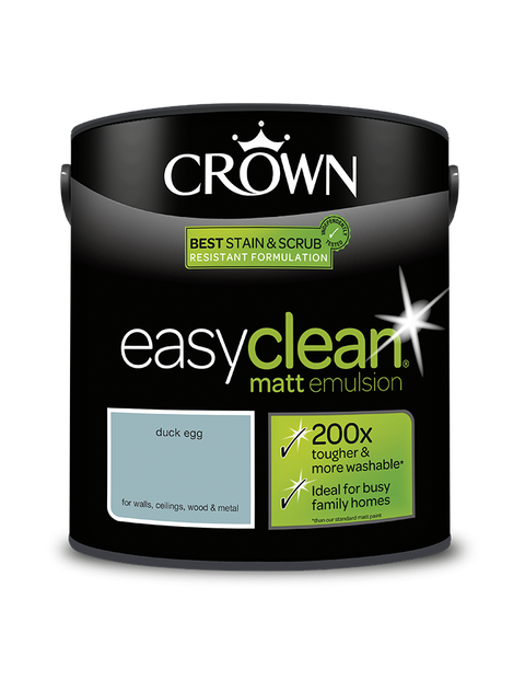 2.5L Crown Easyclean Matt Emulsion - Duck Egg