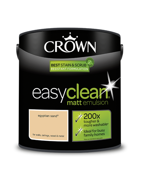 2.5L Crown Easyclean Matt Emulsion - Egyptian Sand