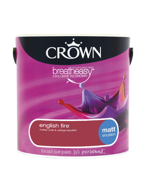 2.5L Crown Matt Emulsion - English Fire