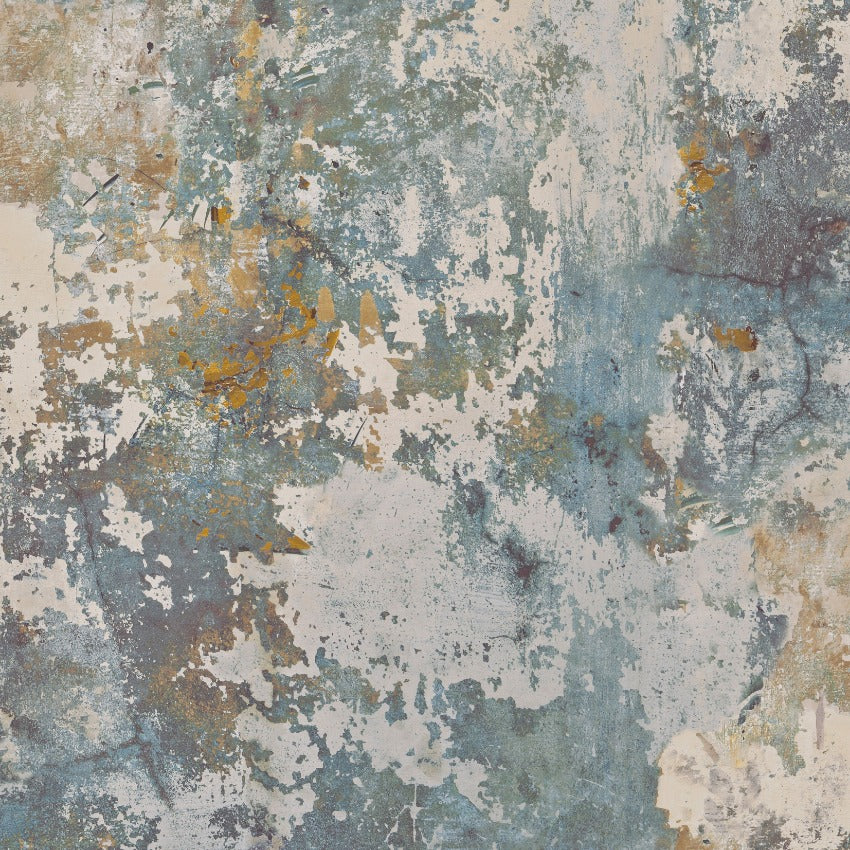 Exposure Blue / Yellow Industrial Concrete Wallpaper