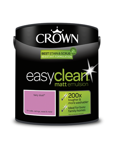 2.5L Crown Easyclean Matt Emulsion - Fairy Dust