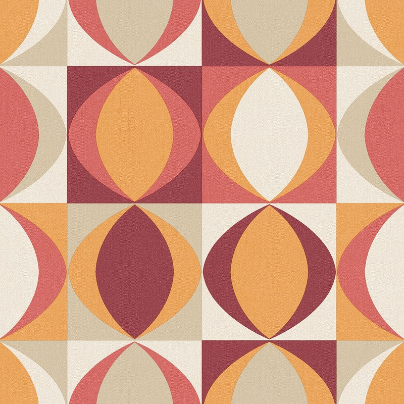 Red and orange retro design wallpaper