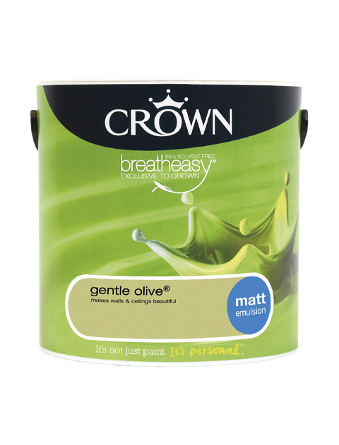 2.5L Crown Matt Emulsion - Gentle Olive