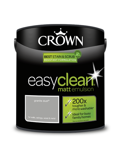 2.5L Crown Easyclean Matt Emulsion - Granite Dust
