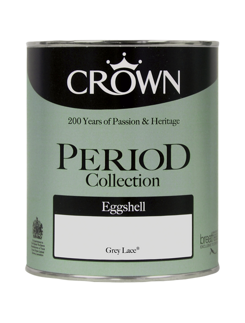 750ml Crown Period Eggshell - Grey Lace