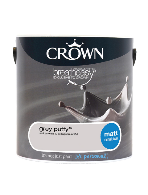 2.5L Crown Matt Emulsion - Grey Putty