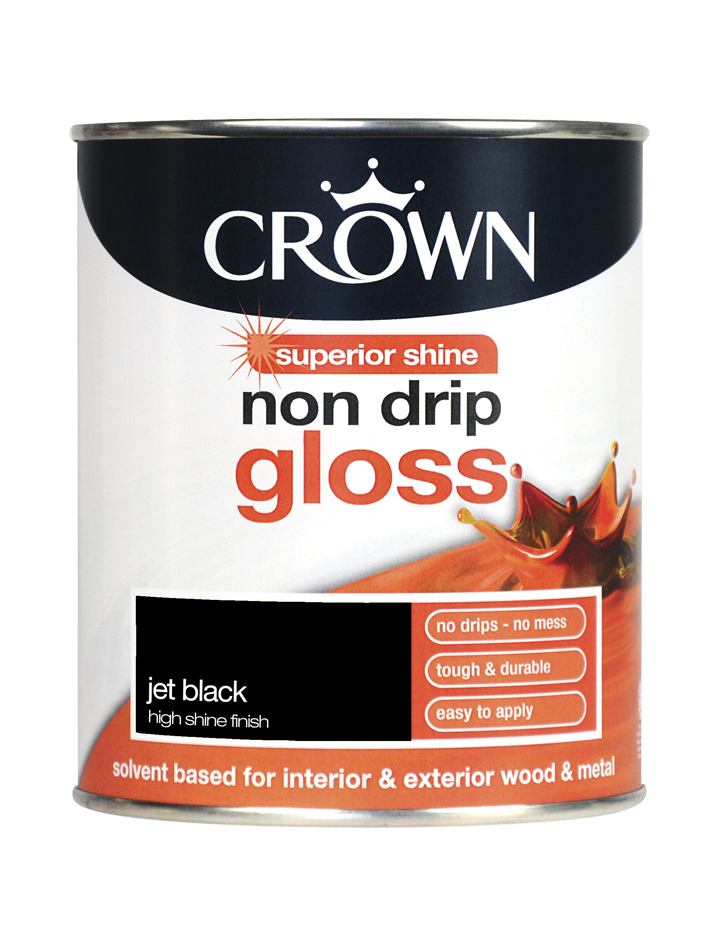 750ml Crown Non Drip Gloss - Jet Black