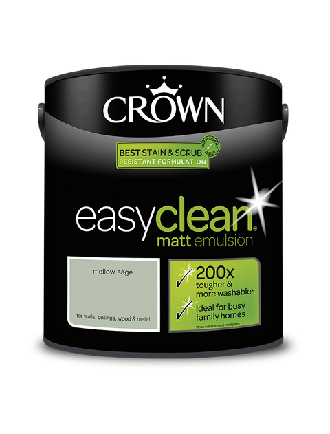 2.5L Crown Easyclean Matt Emulsion - Mellow Sage