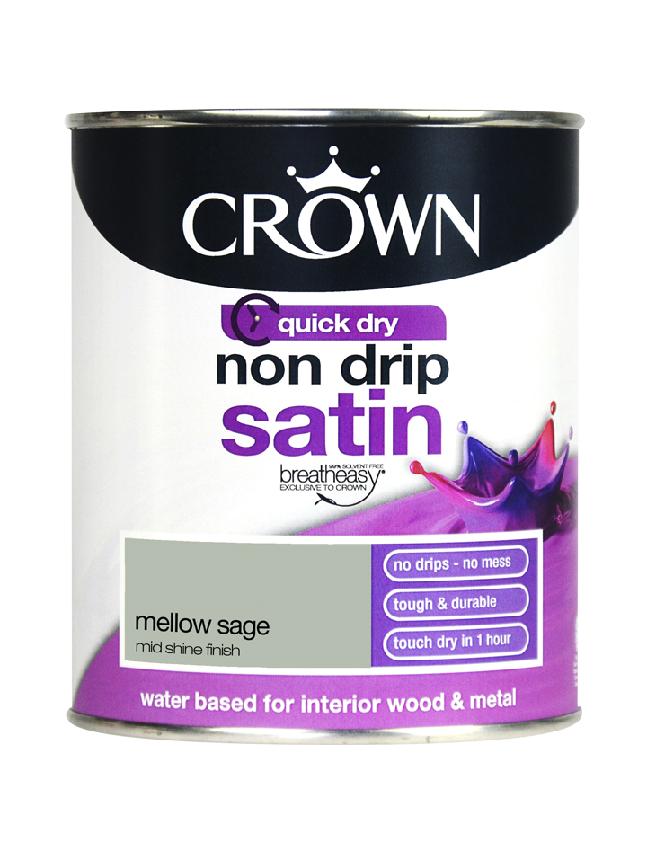 750ml Crown Non Drip Satin - Mellow Sage