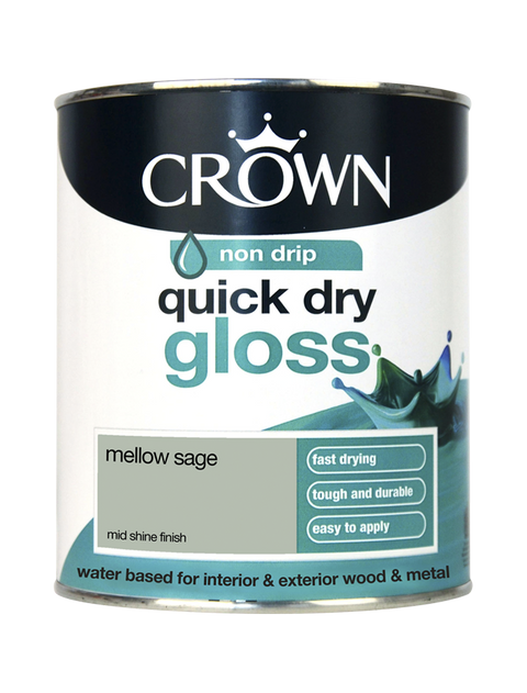 750ml Crown Quick Dry Gloss - Mellow Sage