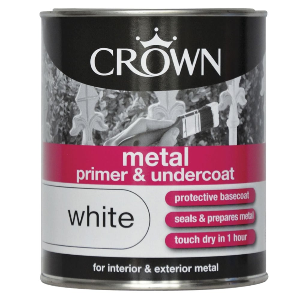 750ml Crown Metal Primer and Undercoat White