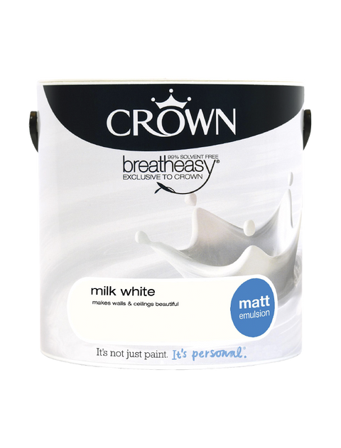 2.5L Crown Matt Emulsion - Milk White