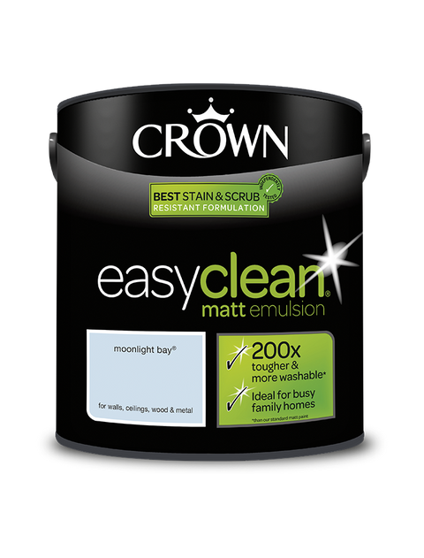 2.5L Crown Easyclean Matt Emulsion - Moonlight Bay