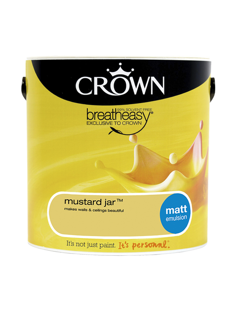 2.5L Crown Matt Emulsion - Mustard Jar