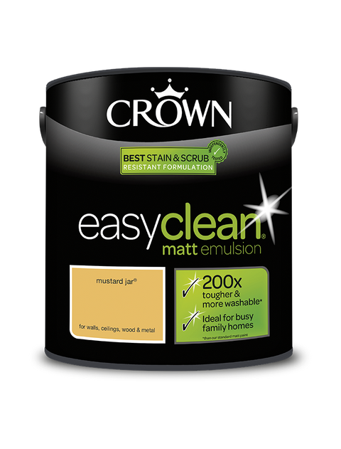 2.5L Crown Easyclean Matt Emulsion - Mustard Jar