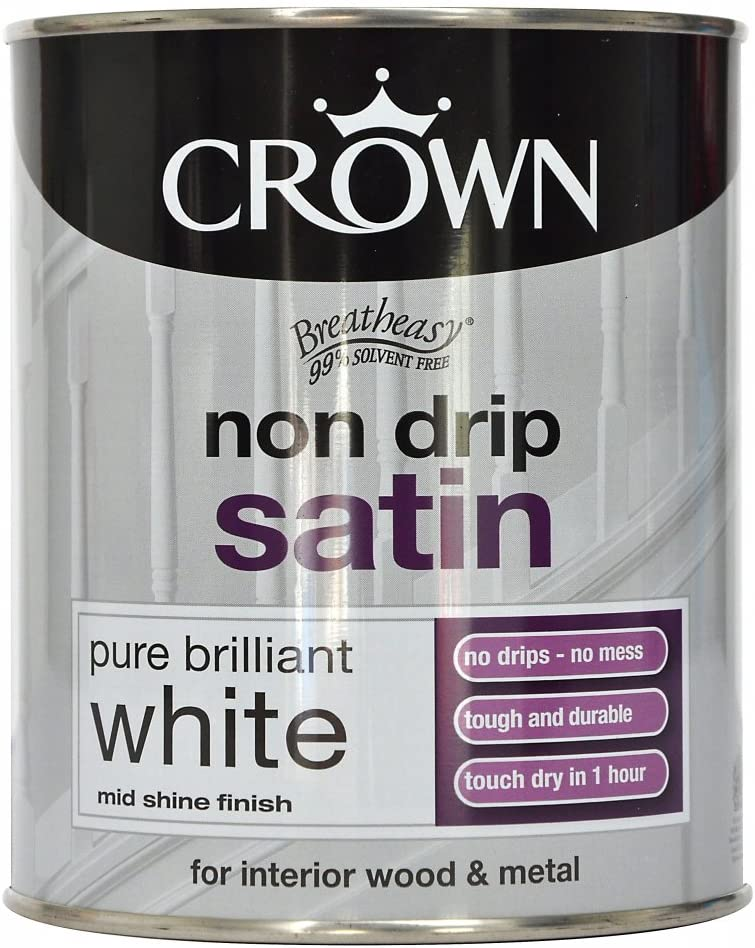 750ml Crown Non Drip Satin Pure Brilliant White