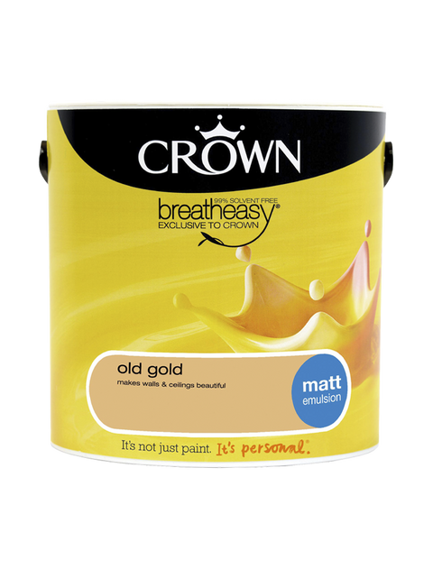 2.5L Crown Matt Emulsion - Old Gold