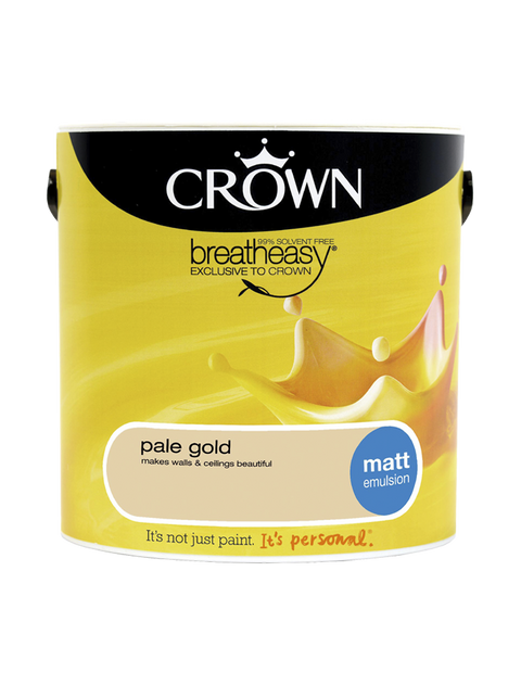 2.5L Crown Matt Emulsion - Pale Gold