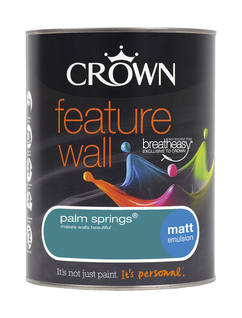 1.25L Crown Feature Wall Matt Emulsion - Palm Springs